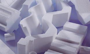 Custom Polystyrene shapes on display